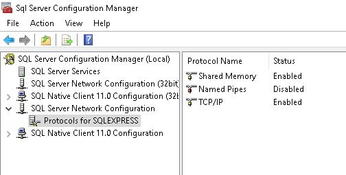 SQL Server 2019 włączony protokół TCP/IP